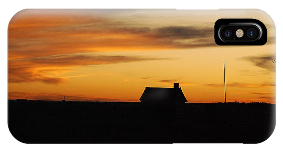 Sunset IPhone X Case featuring the photograph Prairie Sunset by Mary Carol Story