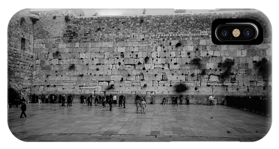 Western Wall IPhone X Case featuring the photograph Praying At The Western Wall by David Morefield