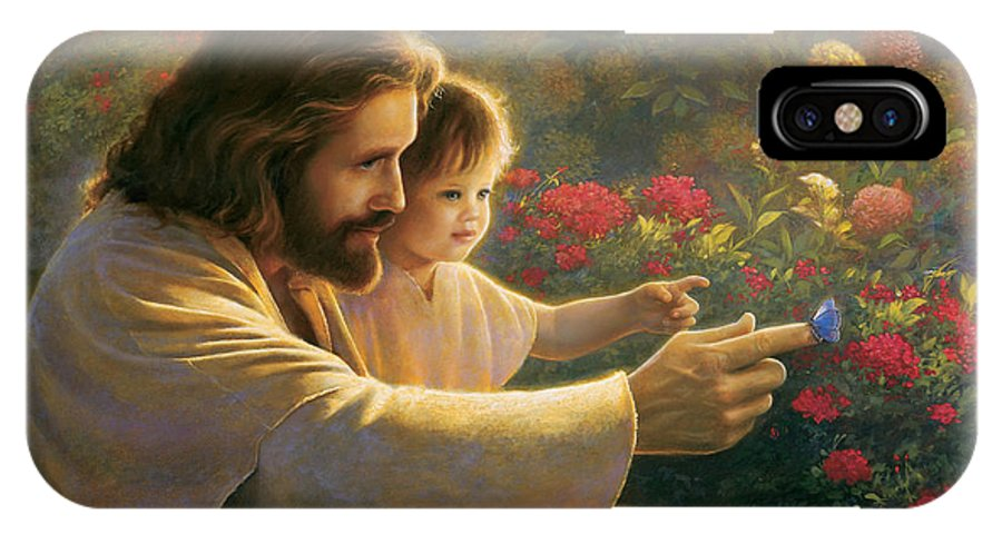 Jesus IPhone X Case featuring the painting Precious In His Sight by Greg Olsen