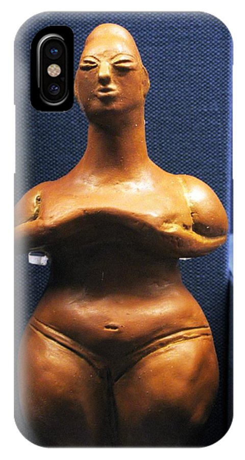 Neolithic Figurine IPhone X / XS Case featuring the photograph Pregnant Woman by Andonis Katanos