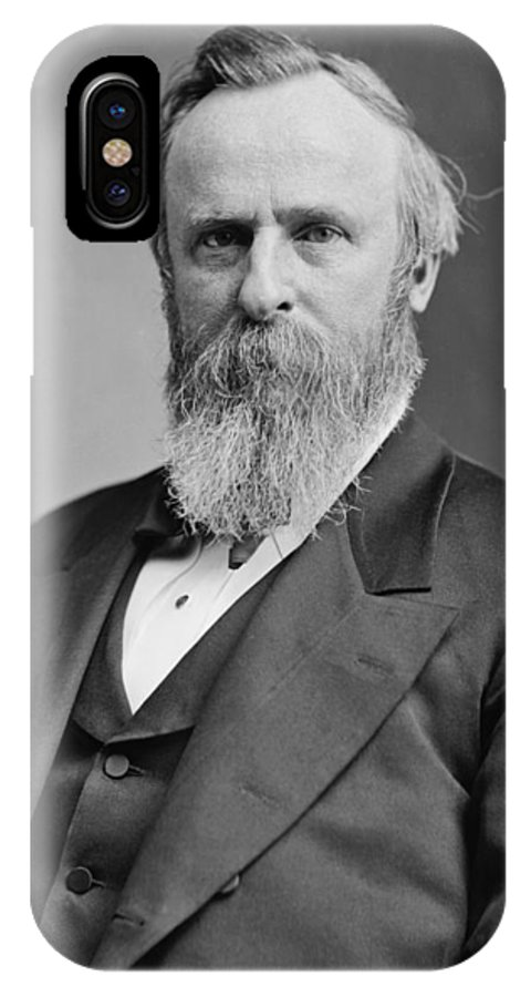 Rutherford B Hayes IPhone X Case featuring the photograph President Rutherford Hayes by War Is Hell Store