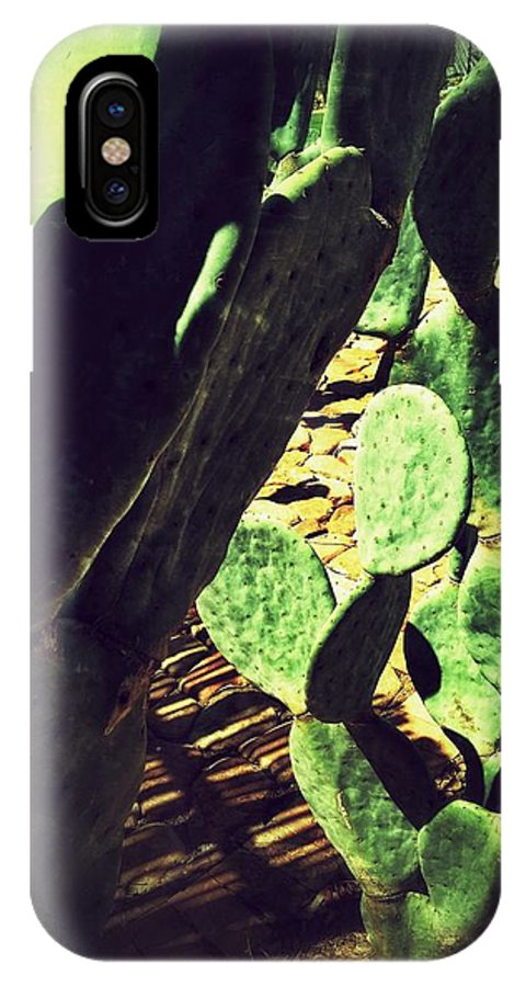Cactus IPhone X Case featuring the digital art Prickly But Pretty by Olivier Calas