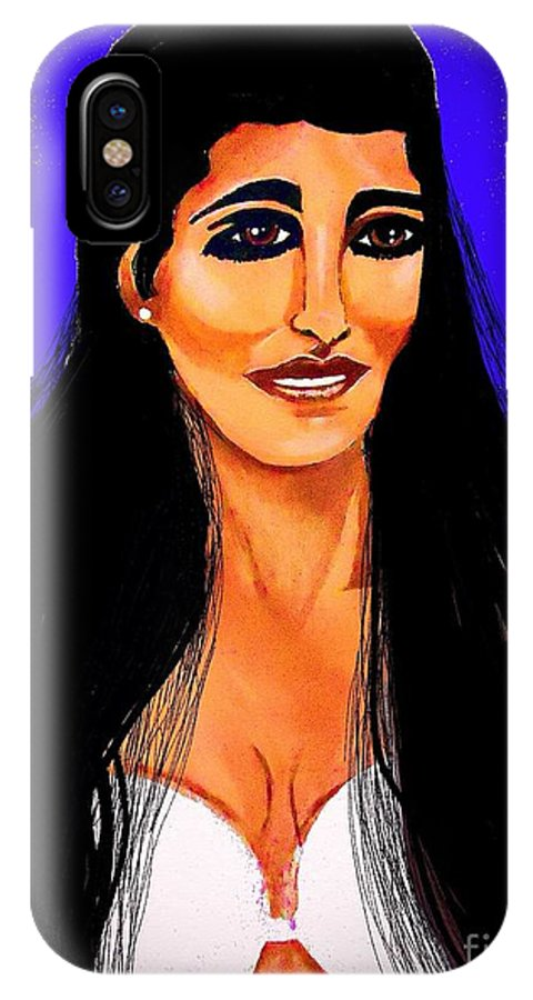 Brown Eye Girl IPhone X Case featuring the painting Princess Leia So Beautiful by Saundra Myles