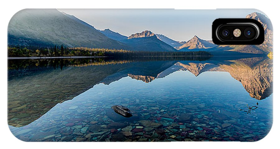 Glacier National Park IPhone X Case featuring the photograph Pristine Lake by Rohit Nair