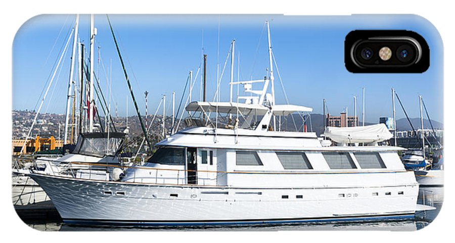 Boat IPhone X Case featuring the photograph Private Yacht by Joe Belanger