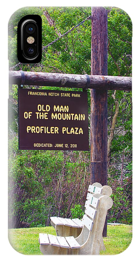 Old Man Of The Mountain IPhone X / XS Case featuring the photograph Profiler Plaza Post by Shell Ette