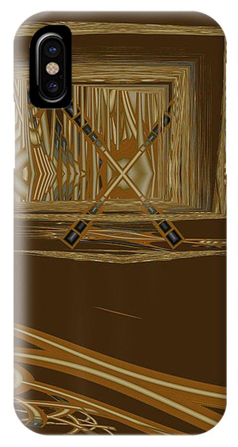 Abstract IPhone X Case featuring the digital art Progress Barred by Judi Suni Hall