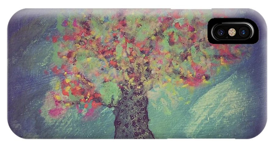 Tree IPhone X Case featuring the painting Promise Tree by Jillian Huskins