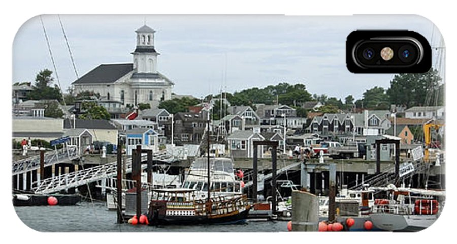 Provincetown IPhone X Case featuring the photograph Pronvincetown Harbor by Chris Bradshaw
