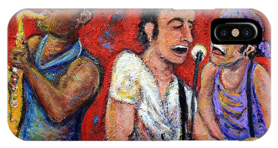 Bruce Springsteen IPhone X Case featuring the painting Prove It All Night Bruce Springsteen And The E Street Band by Jason Gluskin