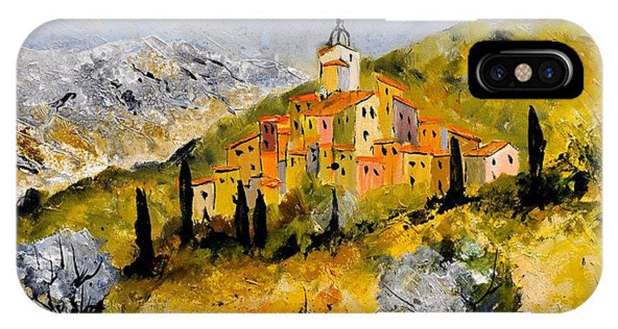 Landscape IPhone X Case featuring the painting Provence 78314030 by Pol Ledent