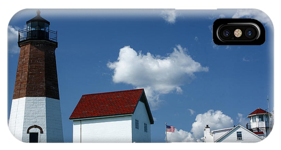 Lighthouse IPhone X Case featuring the photograph Pt. Judith Lighthouse by Sherry Boylan