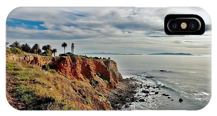 Point Vincente IPhone X Case featuring the photograph Pt Vincente Light House by Debra Farrey