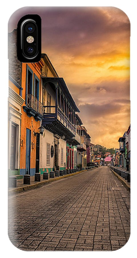 Colonial IPhone X Case featuring the photograph Pto Cabello Colonial District by Giacomo Antico