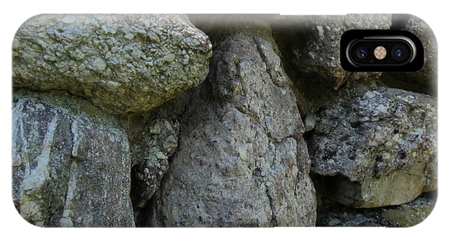 Stone IPhone X Case featuring the photograph Pudding Stone by Susan Carella