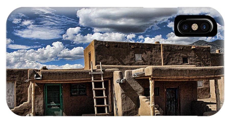 Santa Fe IPhone X Case featuring the photograph Pueblo 1 by Chuck Seller