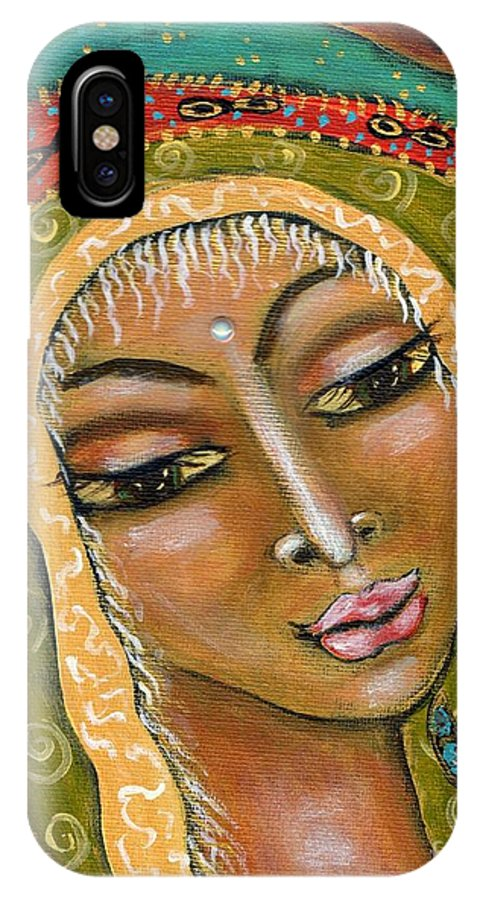 Great Mother IPhone X Case featuring the painting Pueblo Priestess by Maya Telford