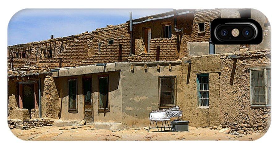 Pueblo IPhone X Case featuring the photograph Pueblo Yard Sale by Joe Kozlowski