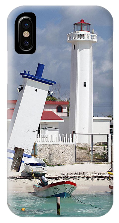 Puerto Morelos Lighthouse IPhone X Case featuring the photograph Puerto Morelos Lighthouse by Ellen Henneke
