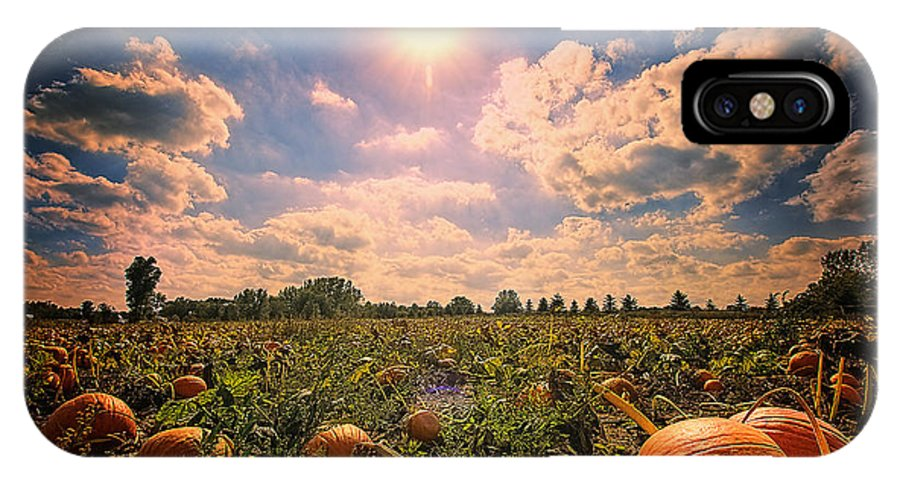 Farm IPhone X Case featuring the photograph Pumkin Patch by Sushmita Sadhukhan