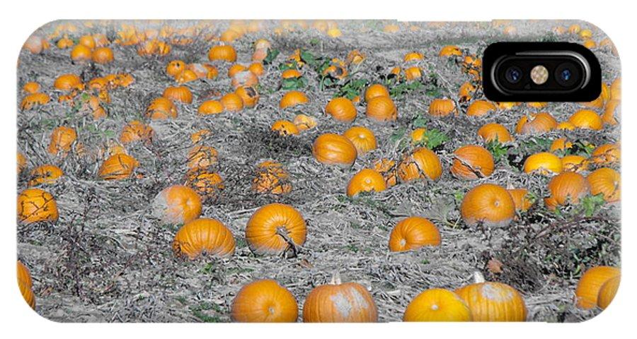 Pumpkins IPhone X Case featuring the photograph Pumpkin Patch by Jaden Norton