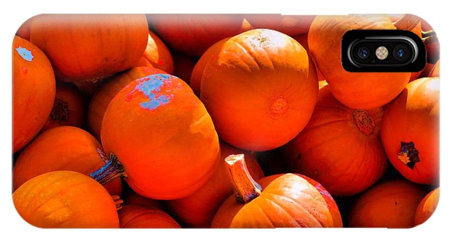 Pumpkins IPhone X Case featuring the photograph Pumpkins by Robert McCulloch