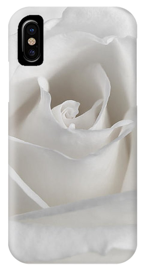 Rose IPhone X Case featuring the photograph Purity Of A White Rose Flower by Jennie Marie Schell