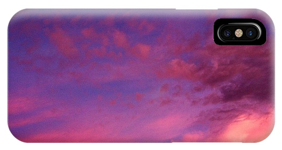 Purple IPhone X Case featuring the photograph Purple Clouds Majesty by Melissa Darnell Glowacki