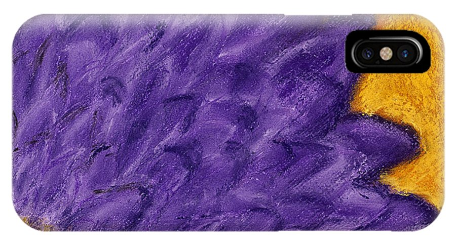 Purple IPhone X Case featuring the painting Purple Daisy by Dana Strotheide