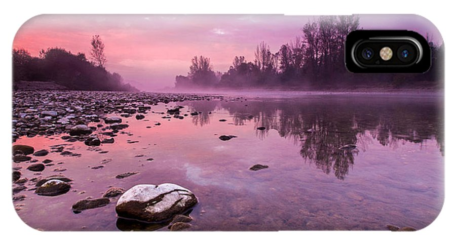 Landscapes IPhone X Case featuring the photograph Purple Dawn II by Davorin Mance