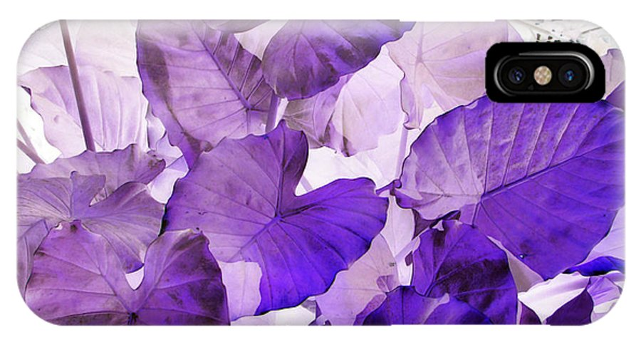 Purple IPhone X Case featuring the photograph Purple Elephants by Debi Singer
