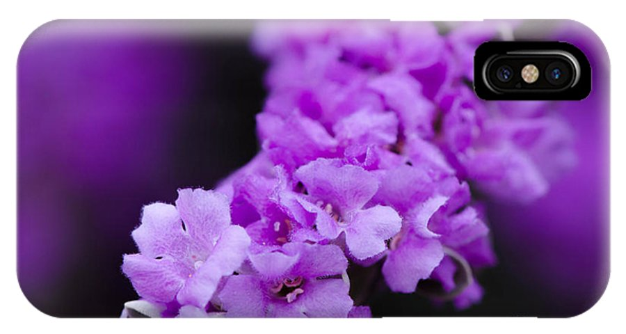 Purple IPhone X Case featuring the photograph Purple Flowers by Michael Moriarty
