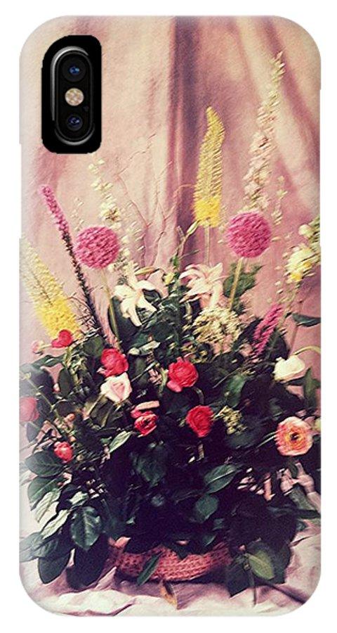Purple Flowers IPhone X / XS Case featuring the photograph Purple Flowers My Design. by Pedro Manuel Studio