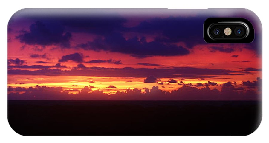 Purple IPhone X Case featuring the photograph Purple Haze by Dave Smith