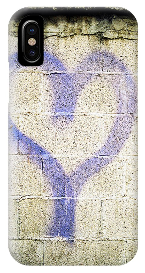 In The Alley IPhone X Case featuring the photograph Purple Heart Heart5 by Leonid Rozenberg