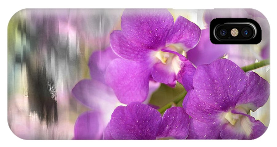 Orchid IPhone X Case featuring the photograph Purple Impression by Jenny Rainbow