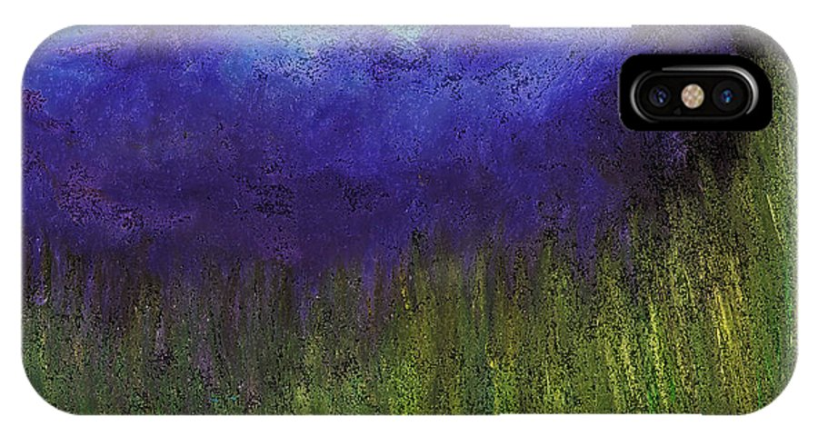 IPhone X Case featuring the painting Purple Mountains By Jrr by First Star Art