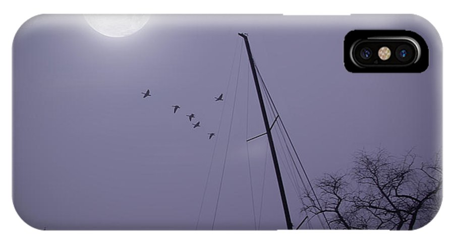 2d IPhone X Case featuring the photograph Purple Night by Brian Wallace