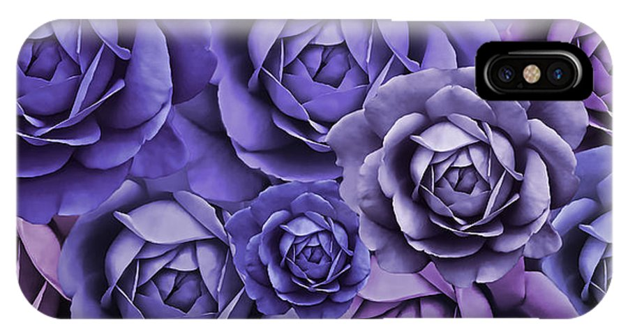 Rose IPhone X Case featuring the photograph Purple Passion Rose Flower Abstract by Jennie Marie Schell