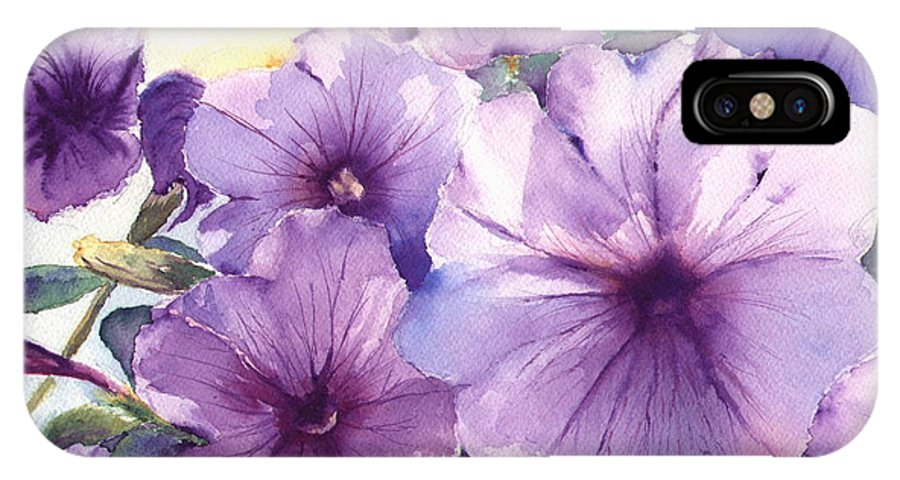 Purple IPhone Case featuring the painting Purple Profusion by Patricia Henderson