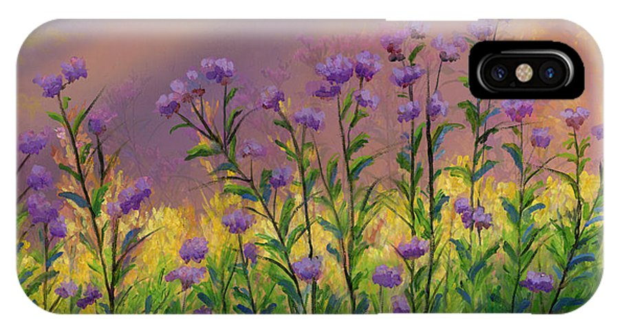 Purple statice flowers iphone x case for sale by cecilia brendel purple statice flowers oil on canvas original oil painting butterfly yellow flowers floral sun light garden mightylinksfo