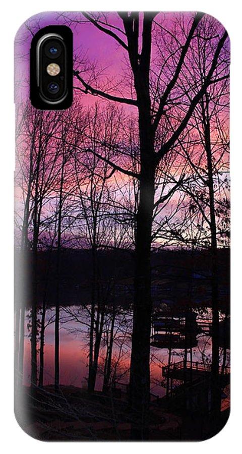 Smith Mt. Lake IPhone X Case featuring the photograph Purple Sunset On Smith Mt. Lake by Jennifer Lamanca Kaufman