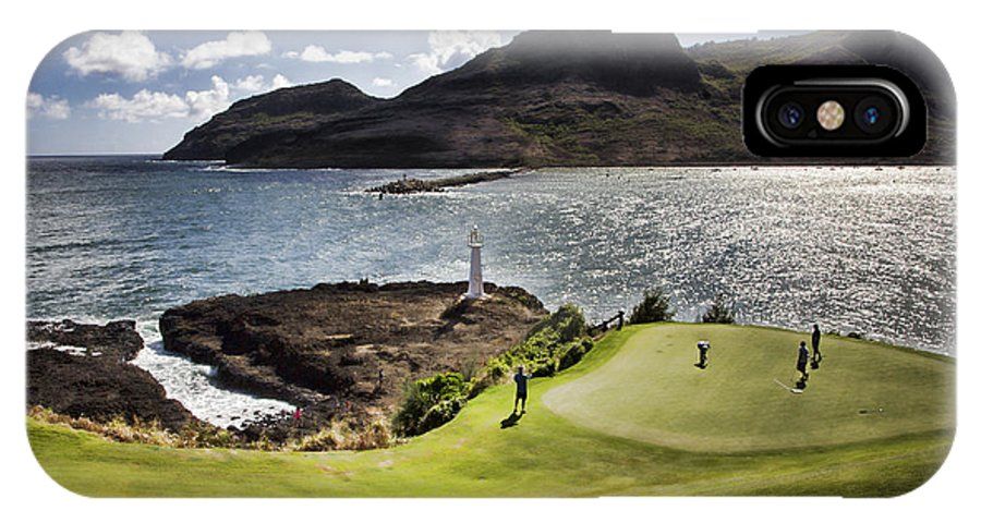 Seafront IPhone X Case featuring the photograph Putting Green In Paradise by Douglas Barnard