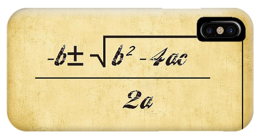 Featured IPhone X Case featuring the digital art Quadratic Equation - Aged by Paulette B Wright