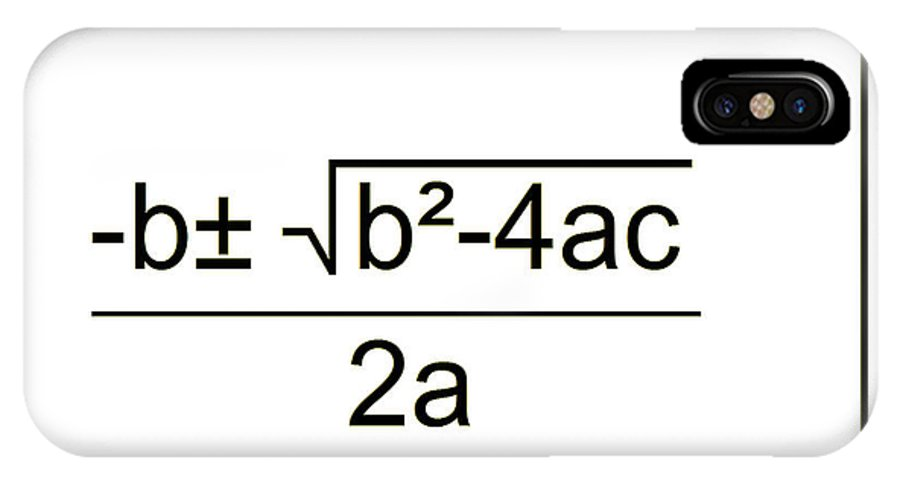 Featured IPhone X Case featuring the digital art Quadratic Equation B-w by Paulette B Wright