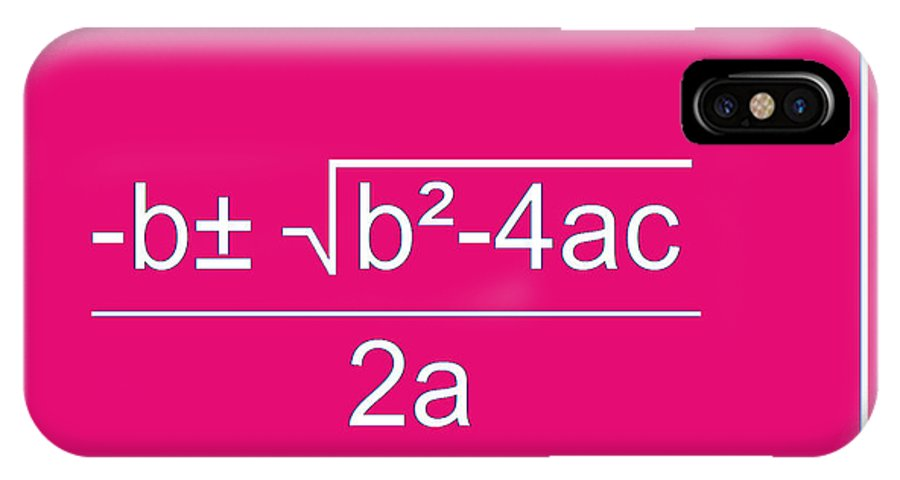 Featured IPhone X Case featuring the digital art Quadratic Equation by Paulette B Wright