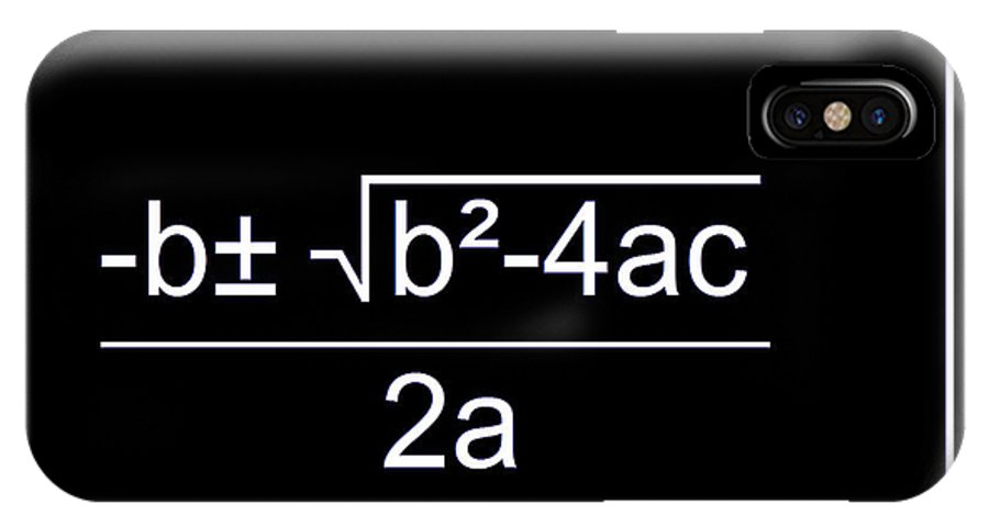 Featured IPhone X Case featuring the digital art Quadratic Equation W-b by Paulette B Wright