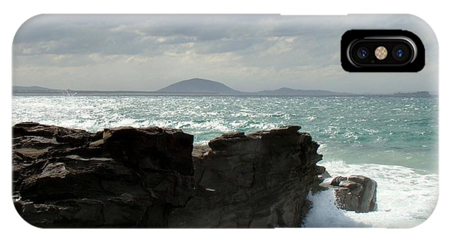 Storm IPhone X Case featuring the photograph Queensland Cliffs by David and Mandy