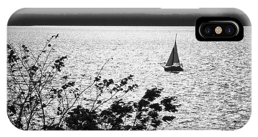 Sailing IPhone X Case featuring the photograph Quick Silver - Sailboat On Lake Barkley by Jane Eleanor Nicholas
