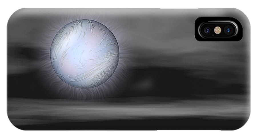 Night IPhone X Case featuring the digital art Quietly by Wendy J St Christopher